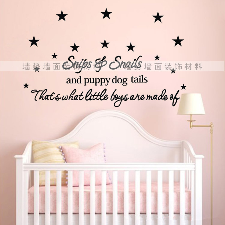 Baby wall quotes quotesgram for Baby room decoration wall stickers