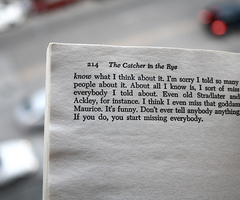 the outsider holden caulfield is respo There are numerous quotes from the catcher in the rye i could have chosen analysis: shortly after holden is assaulted by maurice, the elevator pimp.