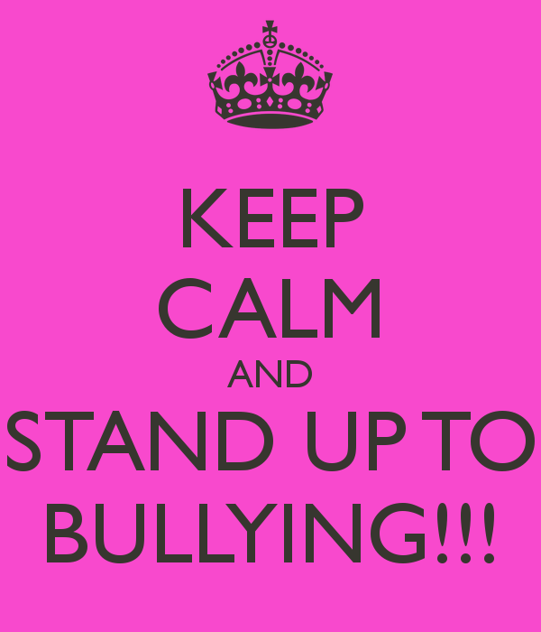 The first day of standing up against bullying at school