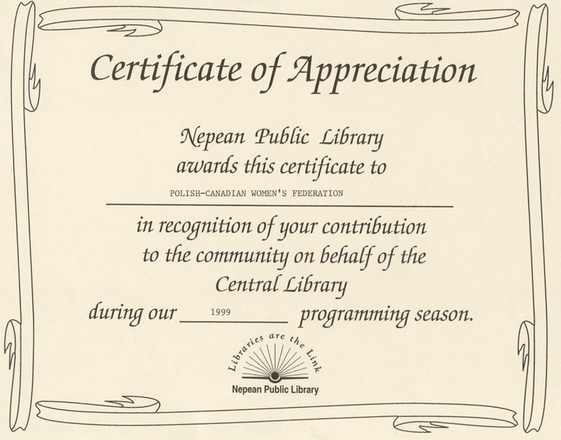 Certificate Of Appreciation Wording Examples Leadership – Certificate of Appreciation Verbiage