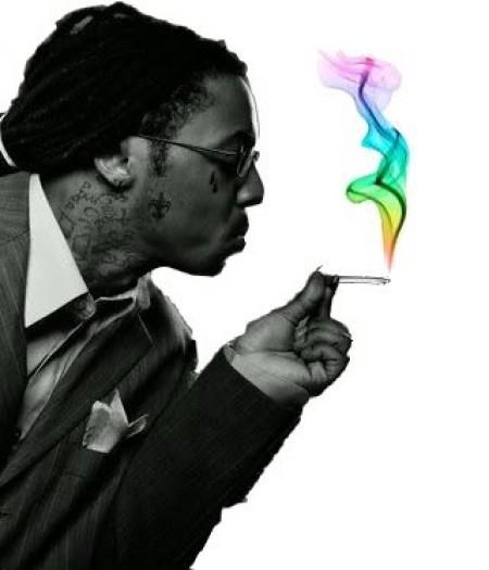Lil Wayne Smoking Colorful Weed Lil Wayne Smoking Weed...