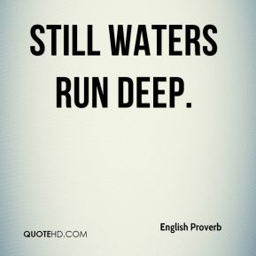 essay on proverb-still waters run deep Adjective modifying the nown water.