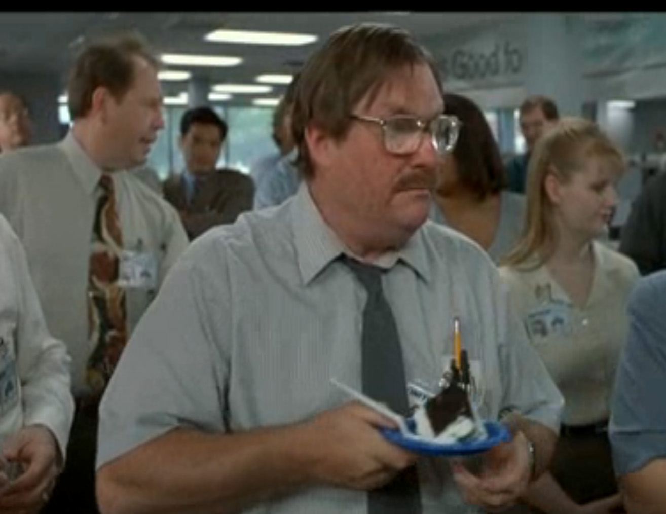 Office space milton cake quotes quotesgram for Office space pics