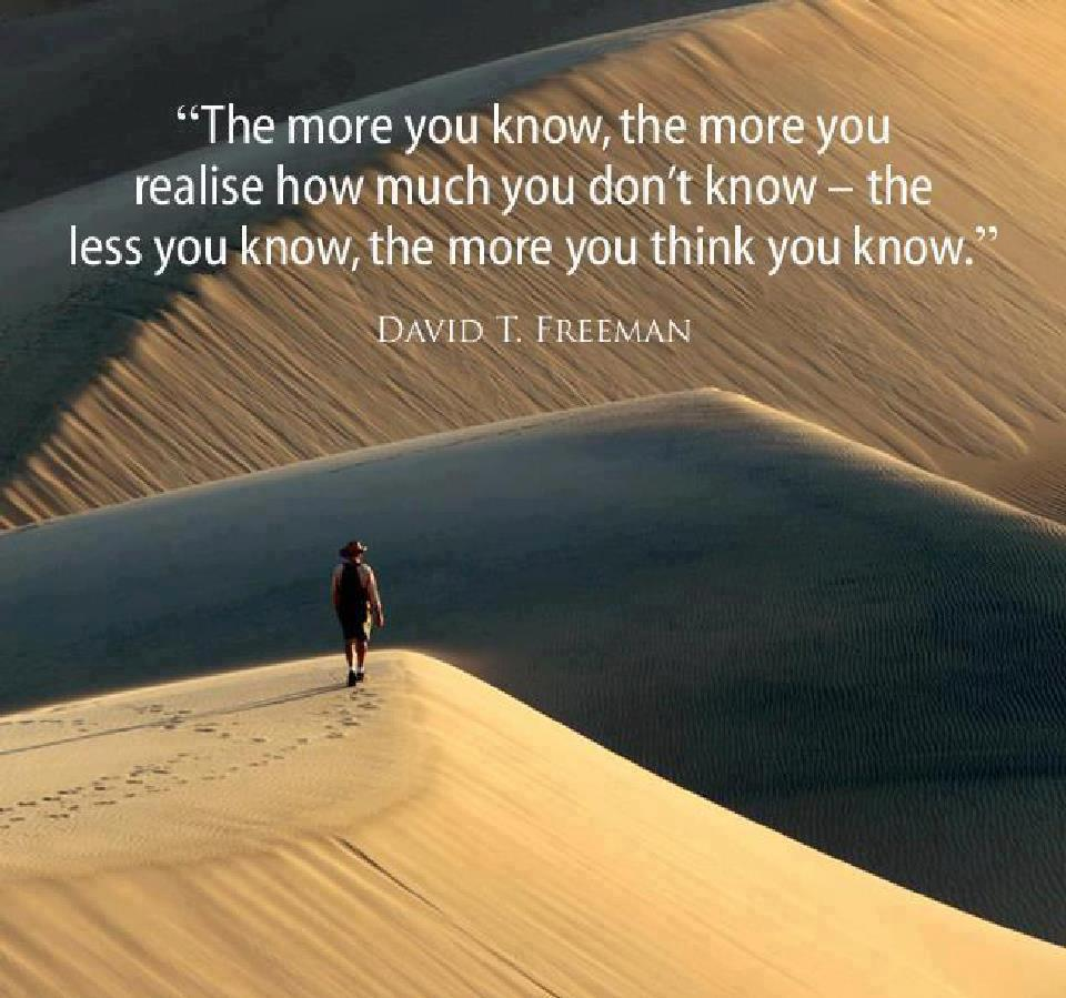 You Think Quotes: The More You Know Quotes. QuotesGram