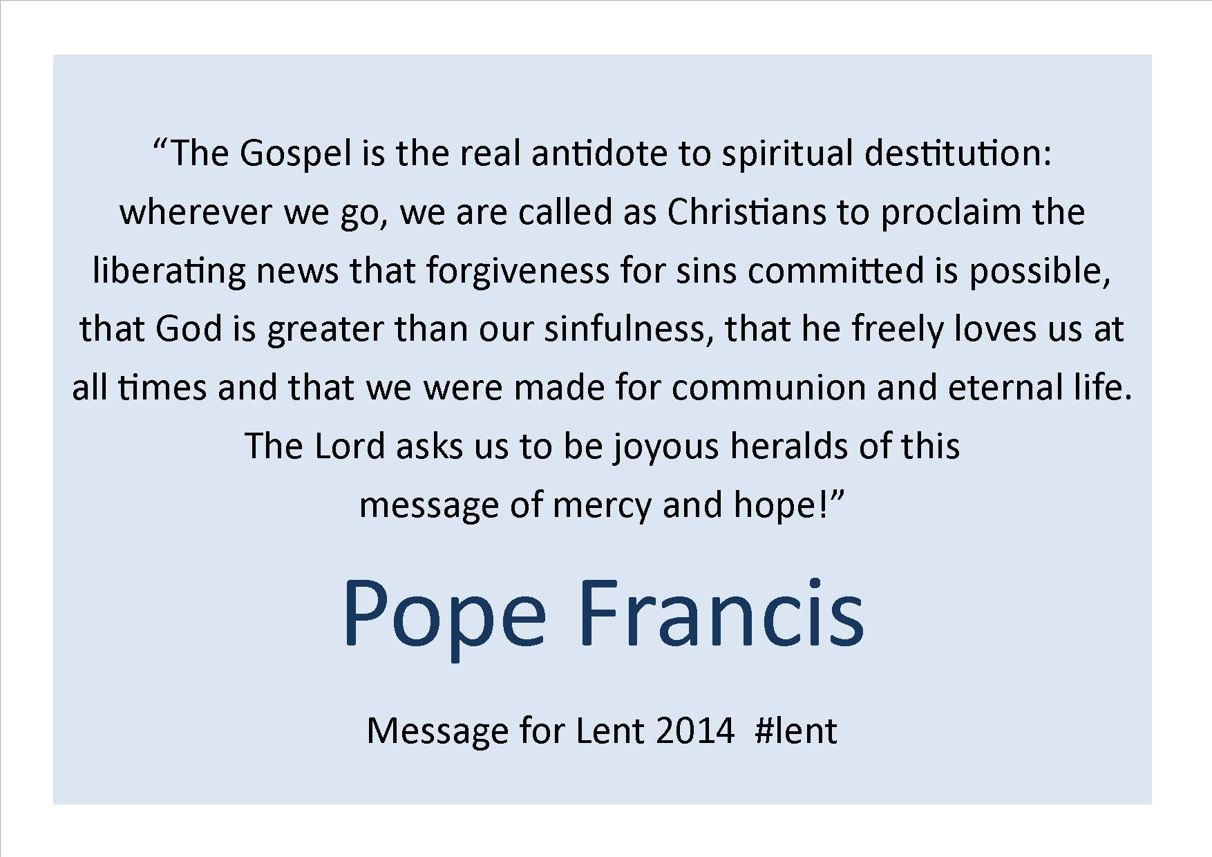 Quotes Pope Francis And Animals Quotesgram: Pope Francis Daily Quotes. QuotesGram