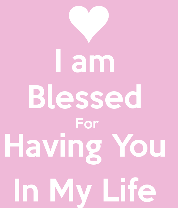 Blessed To Have You In My Life Quotes. QuotesGram