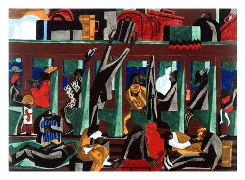 Jacob lawrence, the migration series panel no 19 there had always been discrimination, 1940-41