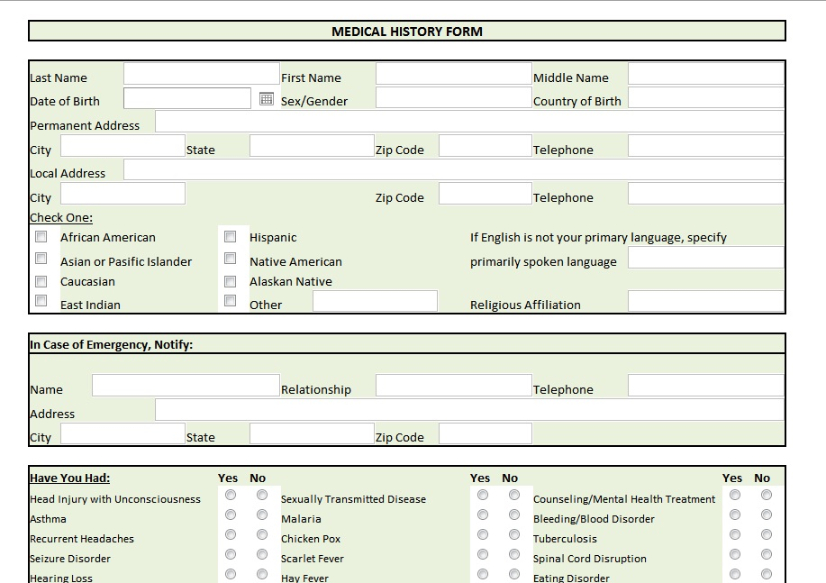 Medical Record Funny Quotes QuotesGram – Medical Record Form Template