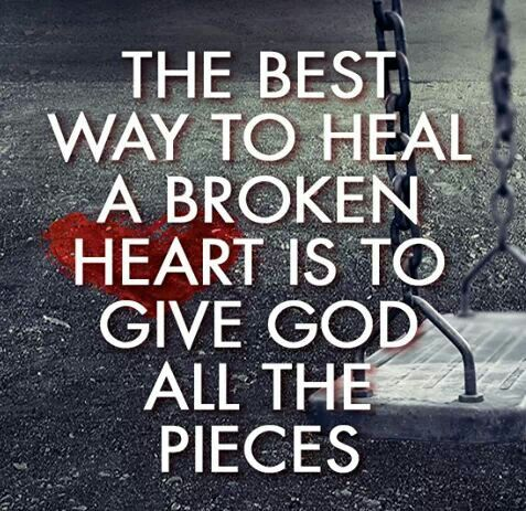How to heal a broken heart quotes phrase and