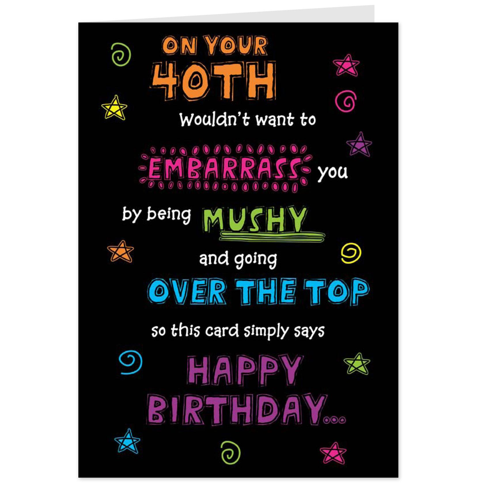 Funny 40th Birthday Quotes. QuotesGram
