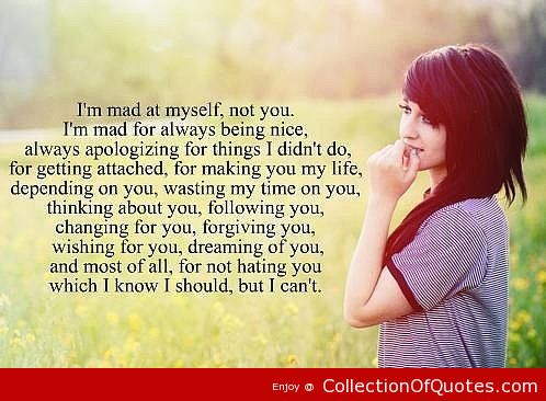 Im Not Mad At You Quotes. QuotesGram
