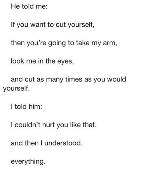 Sad Quotes About Cutting Quotesgram: Stopping Self Harm Cutting Quotes. QuotesGram