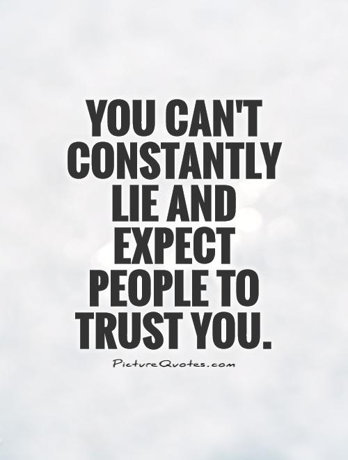 when you can t trust someone