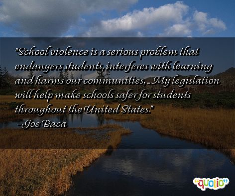 quotes on school violence quotesgram