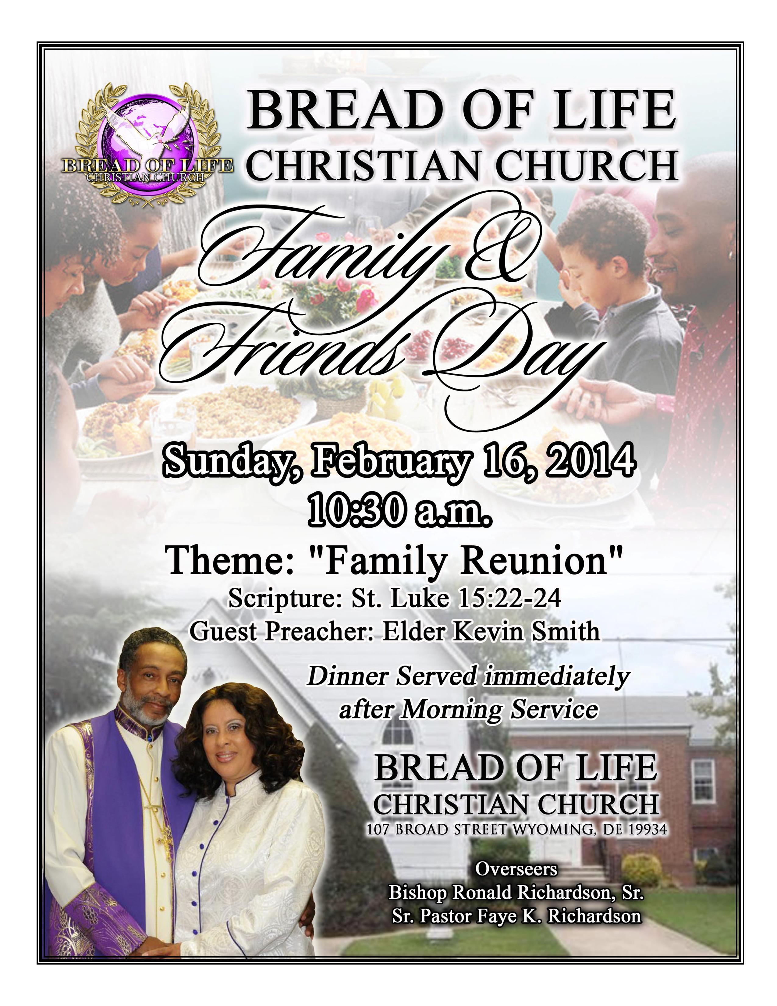 Family and Friends Day | New Cross Temple Church Of God In ... |Themes For Family And Friends