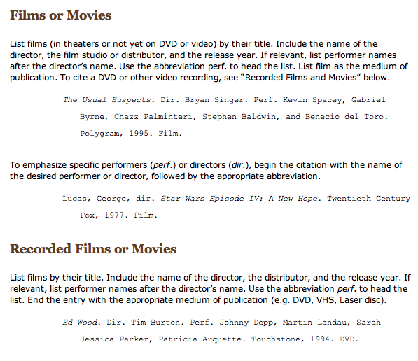 citing a movie apa style The biggest advantage of using the american psychological association (apa) format to cite your paper is that it allows readers to check the sources with ease you can also use the apa format to quote a movie most often movies have more than one producer in such case, you should find out the.