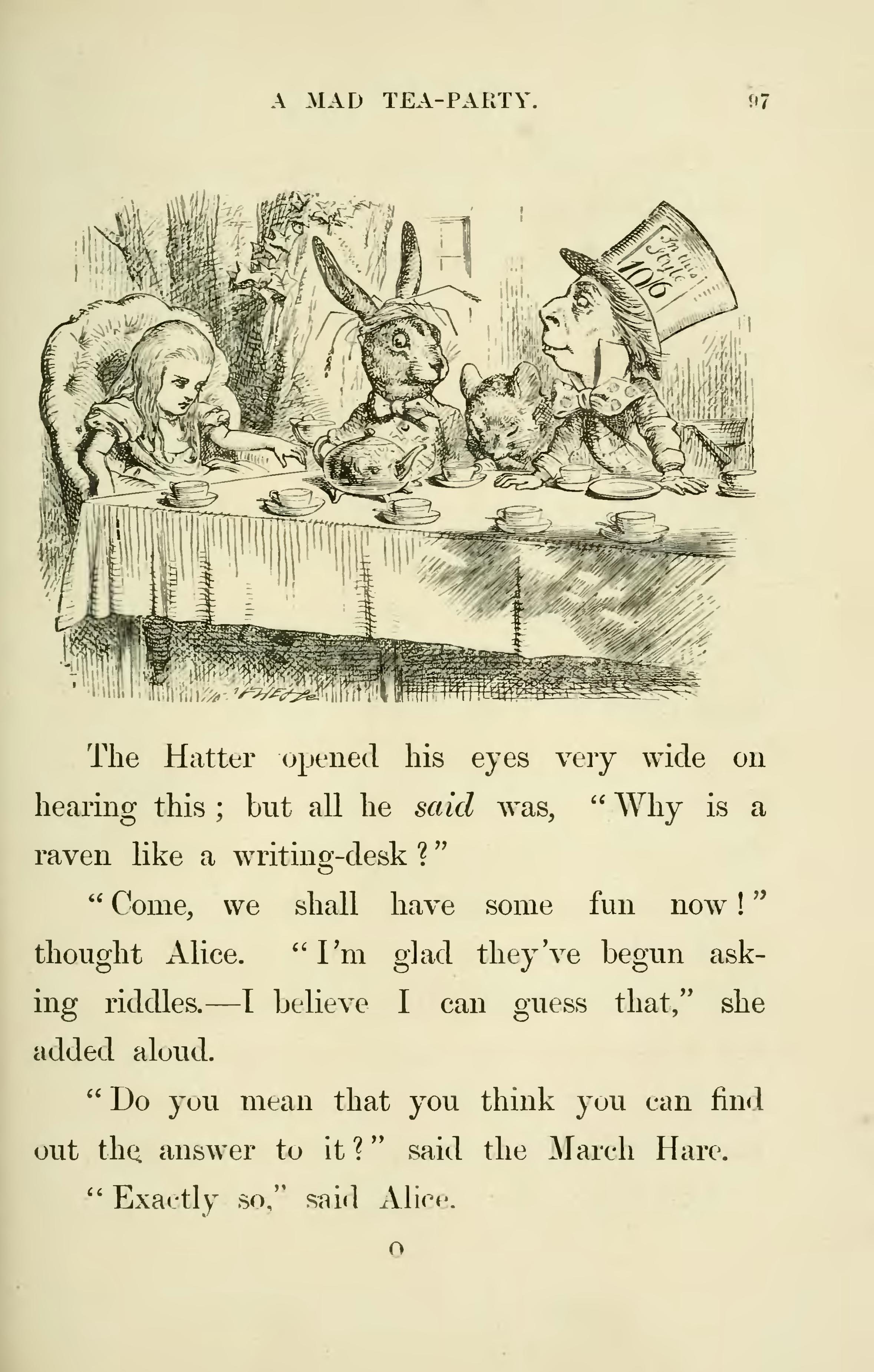 an analysis of alices adventures in wonderland a novel by lewis carrol In the novel alice's adventures in wonderland by lewis carroll,  the novel includes elements from several  first seem haphazard in the analysis of a literary.