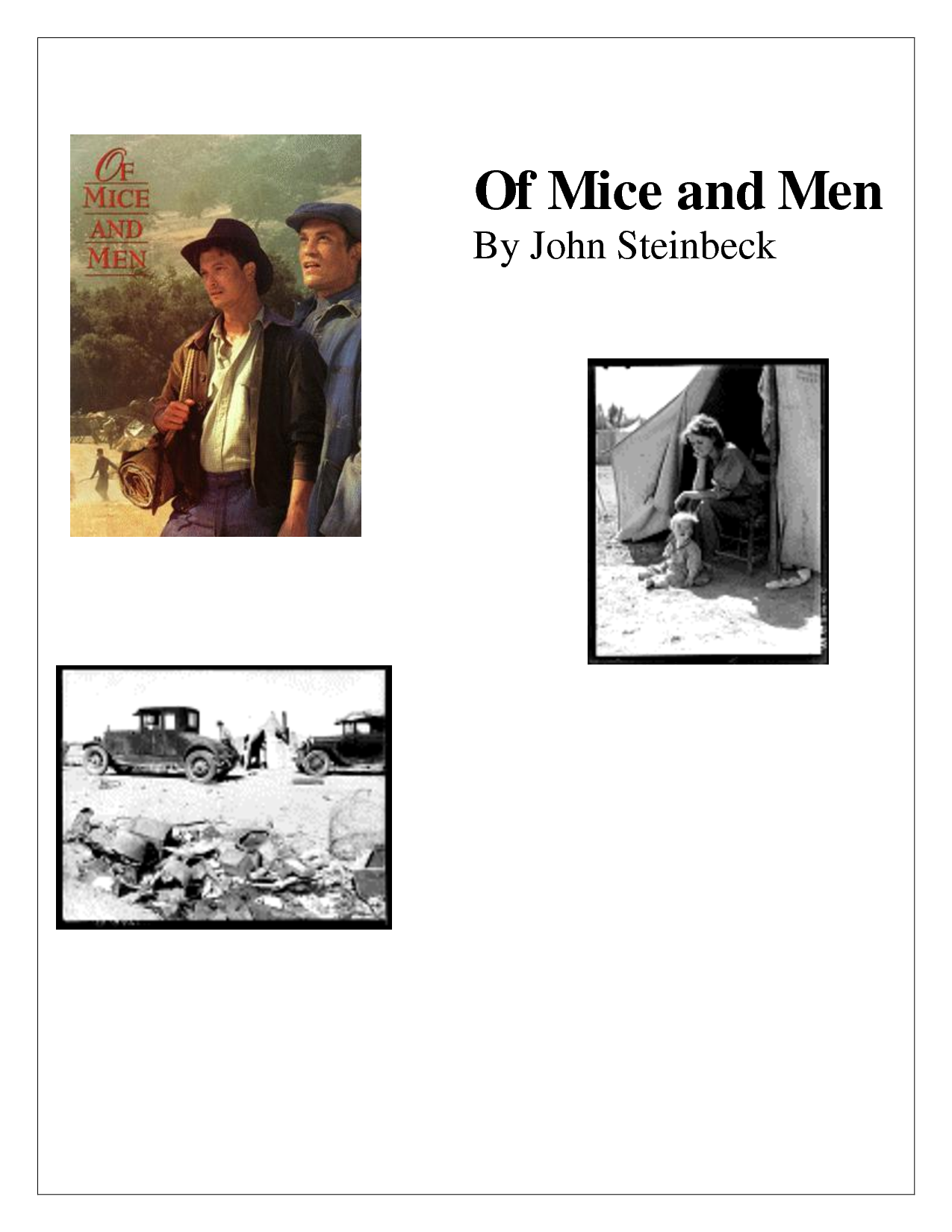 of mice and men and crooks