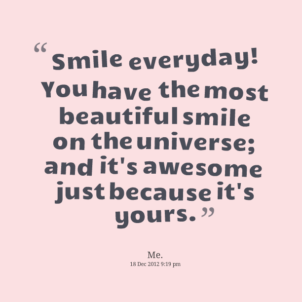 You Are So Beautiful Quotes And Sayings: Quotes Smile You Are Beautiful. QuotesGram