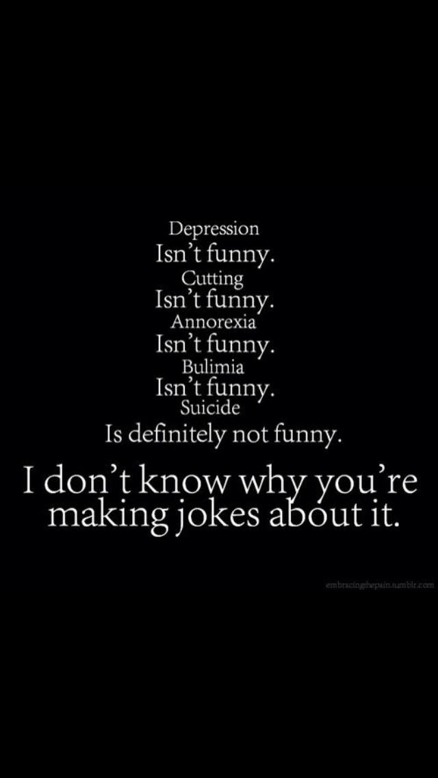 One liners jokes depression Dark Jokes: