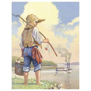 the development of the morals and values of huck in the adventures of huckleberry finn a novel by ma