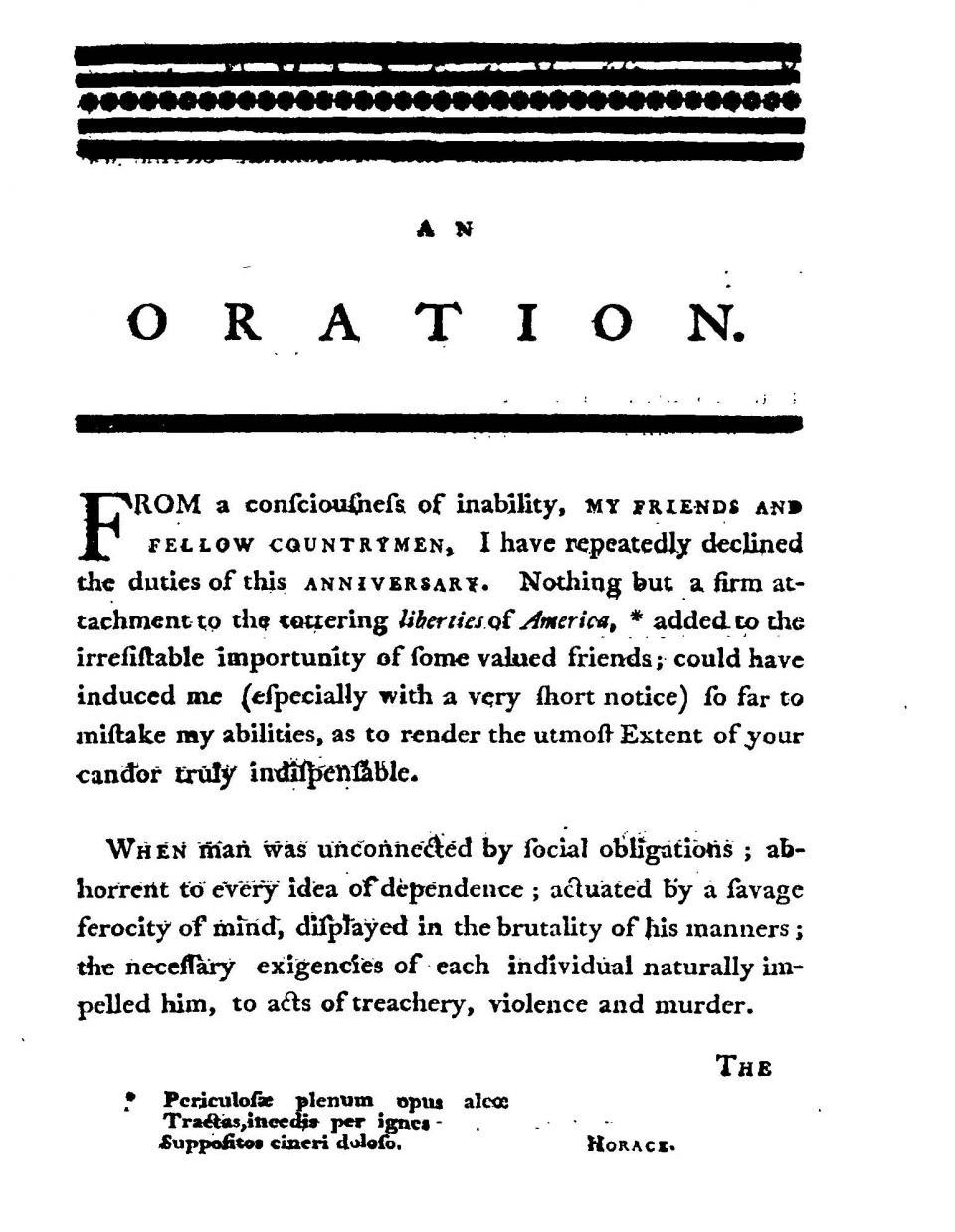 Oration pieces