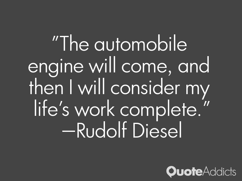 an introduction to the life of rudolph diesel Osie said: this book is a biography of rudolf diesel  an introduction to the  invention, historical development, and operation of the diesel engine, with a.