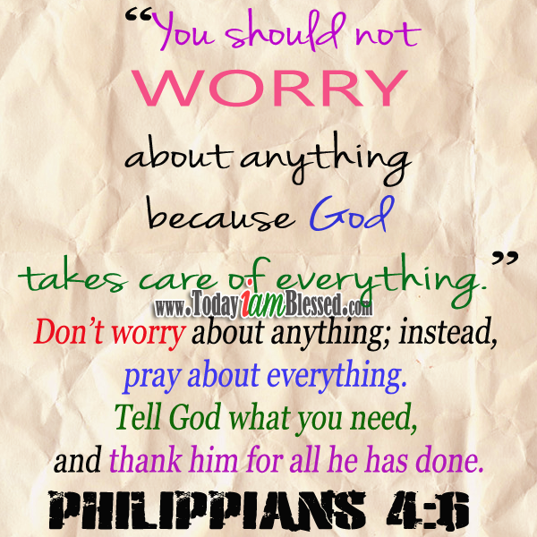 bible quotes about worrying quotesgram