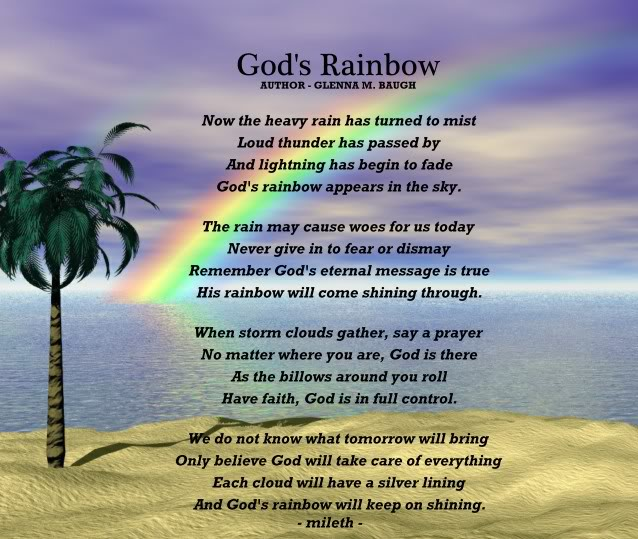 Inspirational Quotes About Positive: Gods Rainbow Quotes. QuotesGram