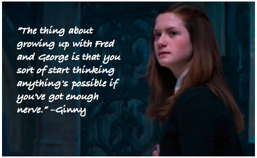 10 Signs You Grew Up In A Christian Family: Ginny Harry Potter Quotes. QuotesGram