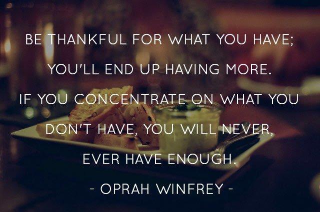 Quotes Be Thankful Oprah Winfrey Quotesgram