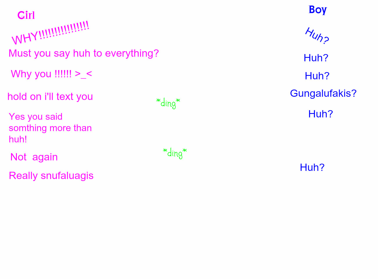 Girl Boy Conversations Quotes. QuotesGram