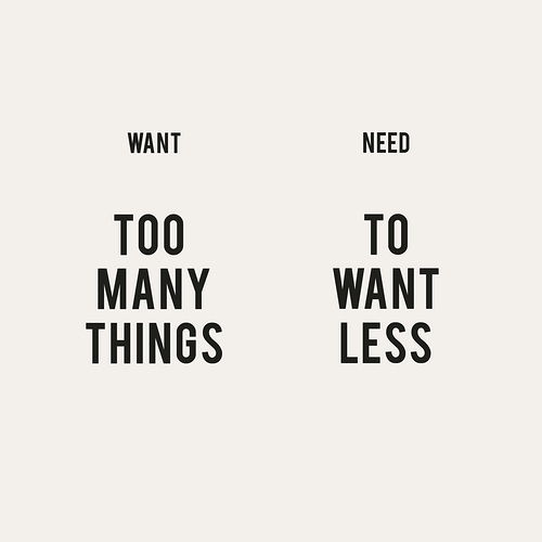 Wants vs needs quotes