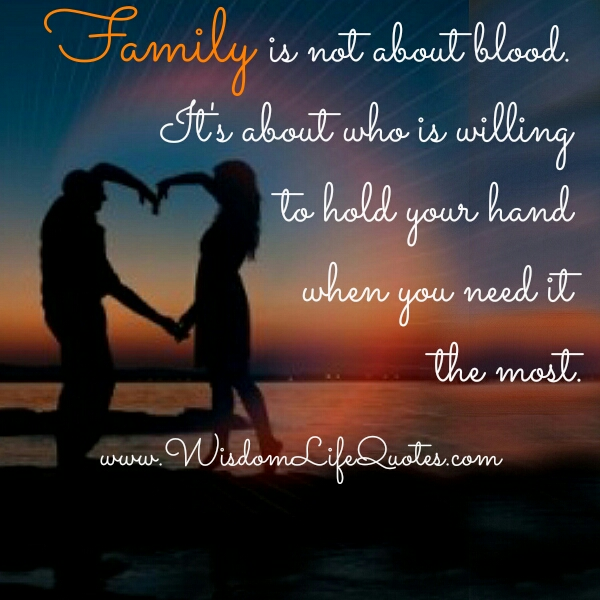 Does Not Make Blood Family Quotes. QuotesGram