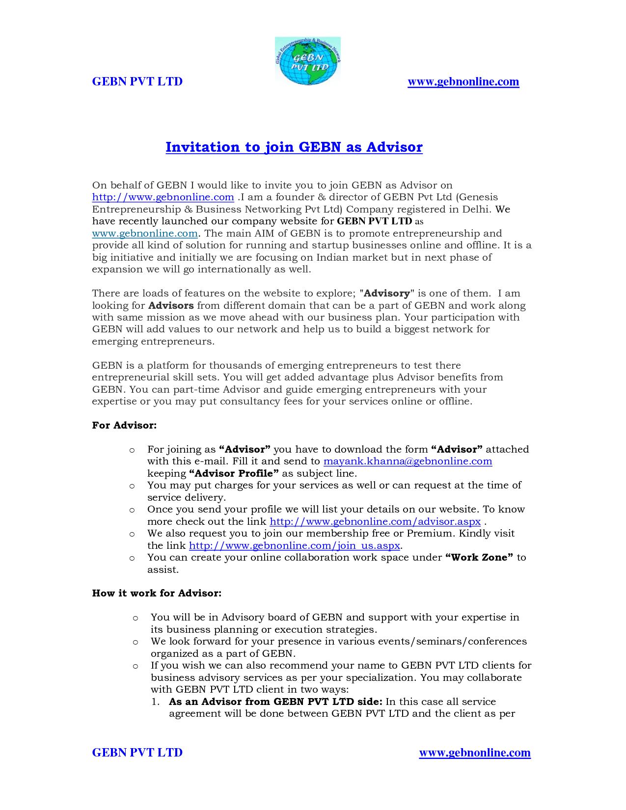 academic advisor cover letter sample - Template