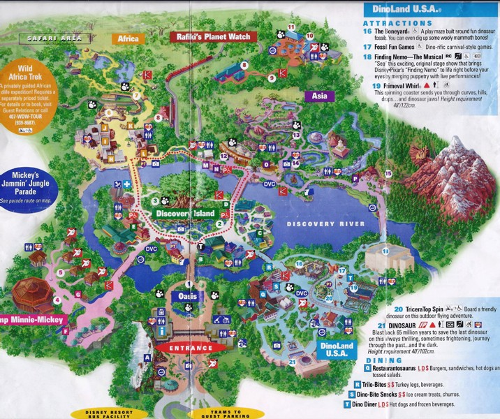 animal kingdom park map 2017 pdf