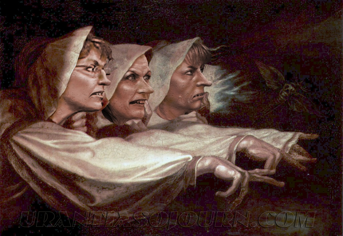the witches in macbeth The three witches in macbeth represent evil and darkness the witches demonstrate the external evil forces working against macbeth specifically, but that allegorically may influence any person.