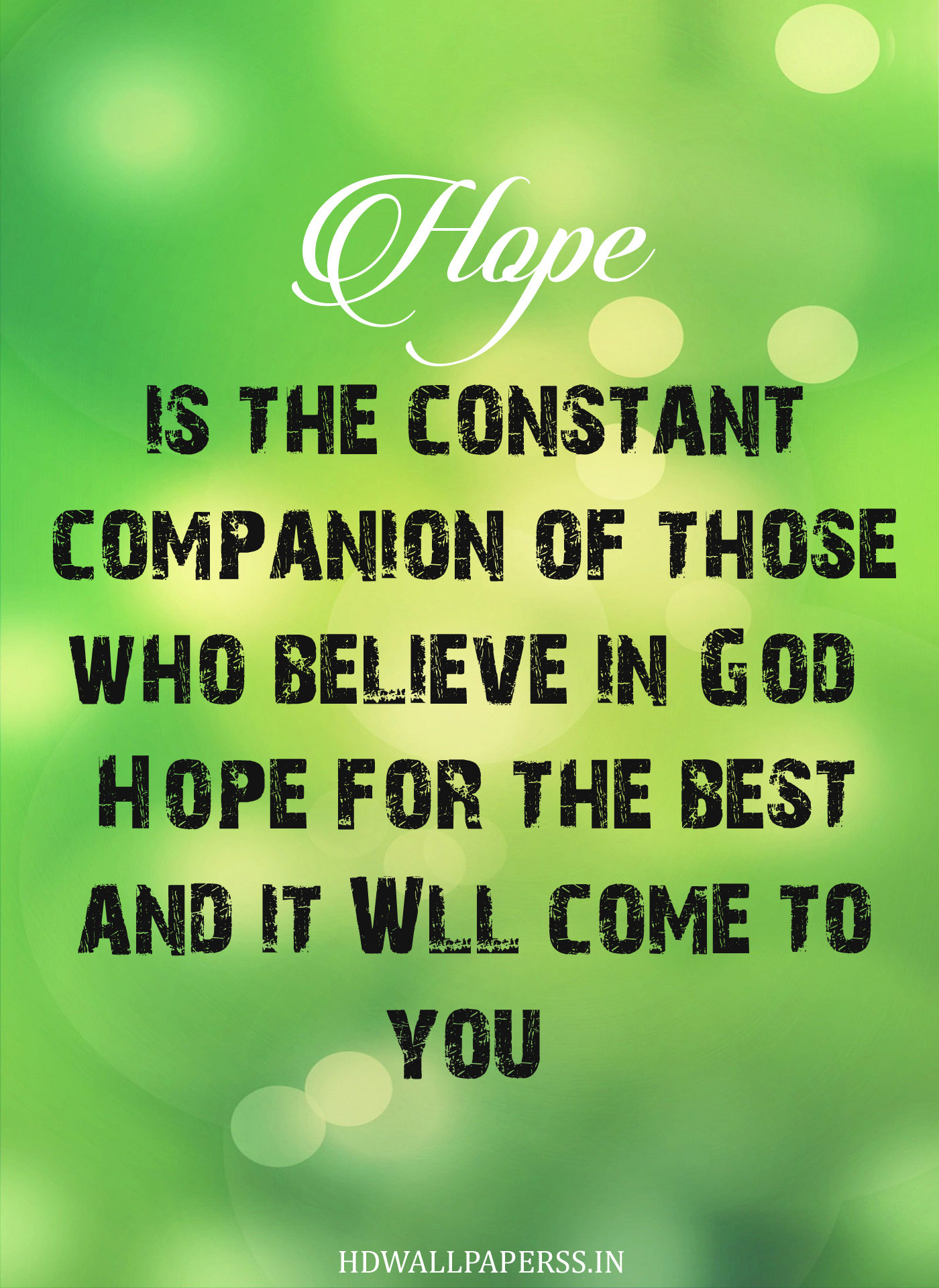 Inspirational Quotes About Hope. QuotesGram