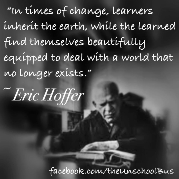 a review of eric hoffers book the true believer Another excerpt from eric hoffer's book the true believer (1951), picking back up on page 85, chapter 14: unifying agents hatred 65 hatred is the most accessible and comprehensive of all unifying agents.