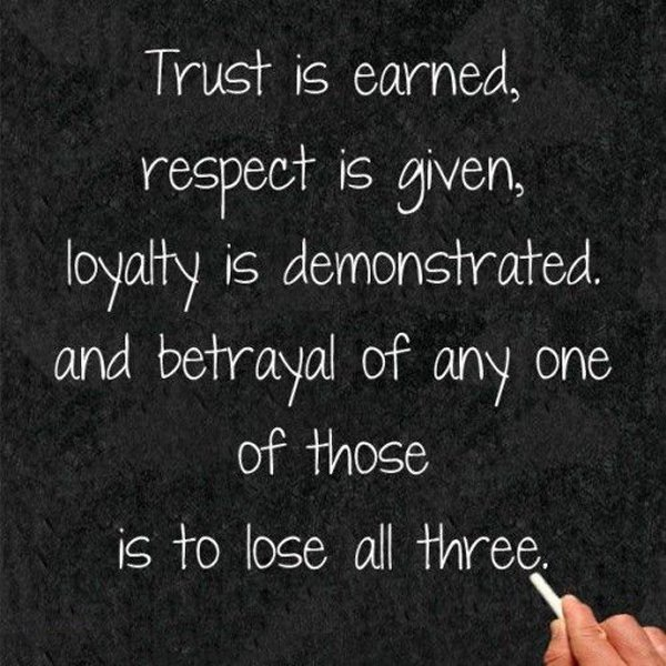 Betrayed Trust Quotes: Respect Is Earned Quotes. QuotesGram