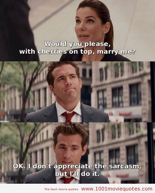 Funniest Movie Quotes: Funny Proposal Quotes. QuotesGram