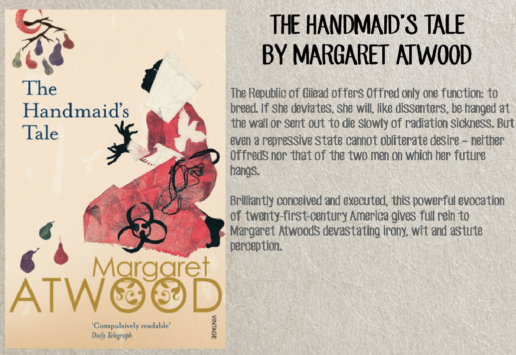 the handmaids tale essays Sexual oppression and religious extremism in margaret atwood's the handmaid's tale handmaids are severely scrutinized to show how a body can be docile.