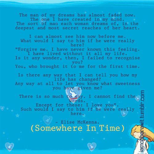 Somewhere In Time Quotes: Somewhere In Time Quotes. QuotesGram