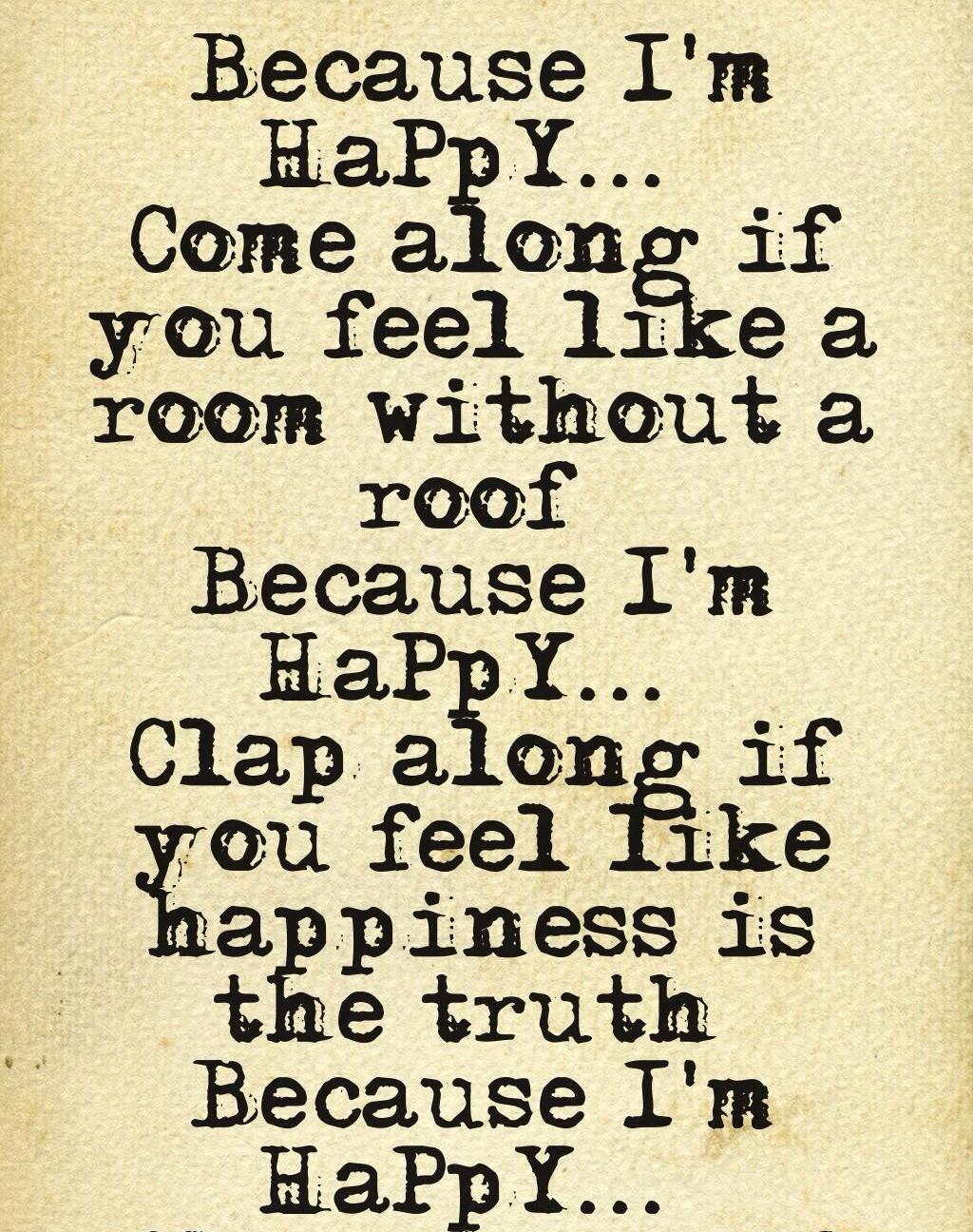 Lyrics: Happy Song Lyrics Quotes. QuotesGram