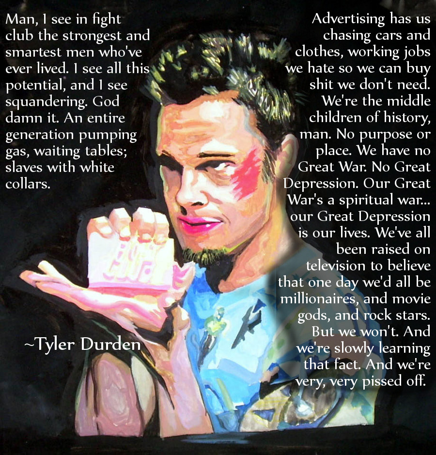 Famous Quotes Tyler Durden. QuotesGram