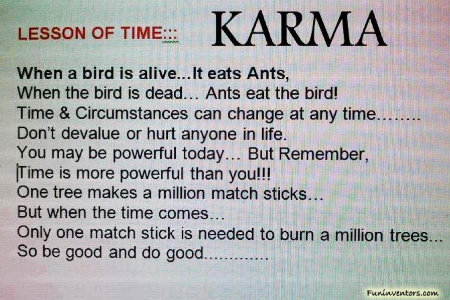 Karma Quotes: Quotes On Karma And Effect. QuotesGram
