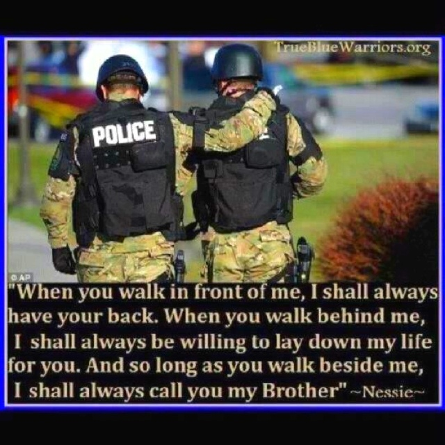 Police Brotherhood Quotes. QuotesGram