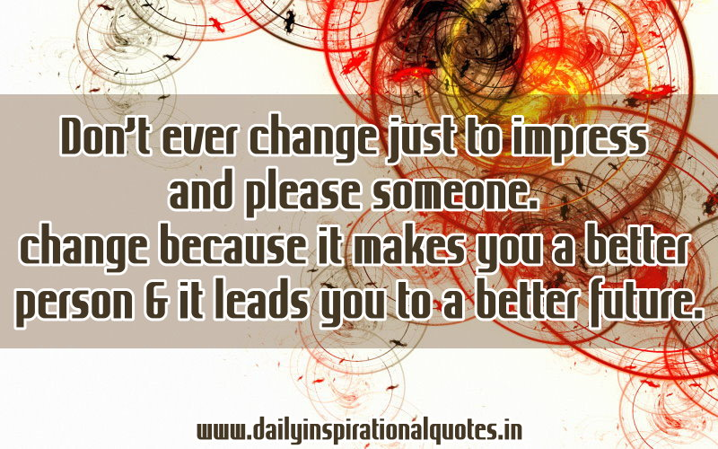 how to change myself to be a better person