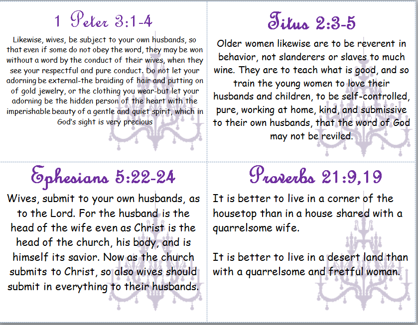 Marriage scripture verses on What Does