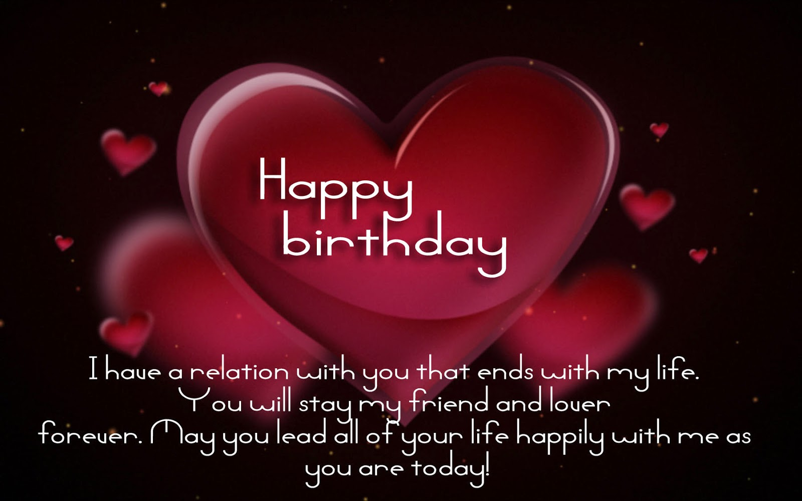 Birthday Greetings for Lovers